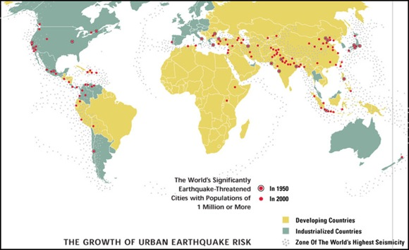 GeoHazards map