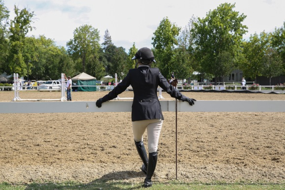 Menlo horse show_back of competitor
