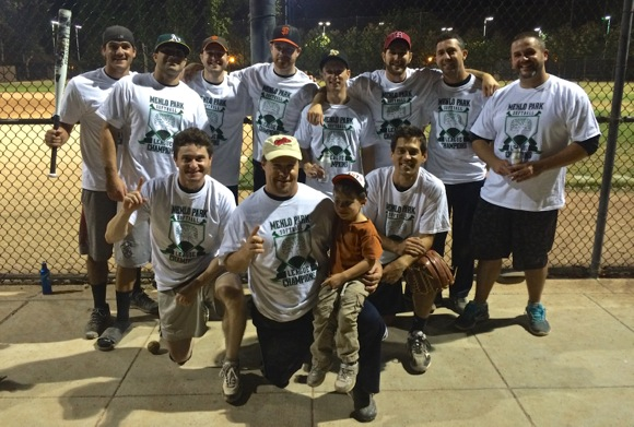 Post image for Oasis team wins Men's Softball D League in Menlo Park