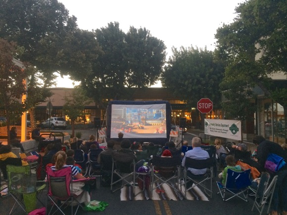 Watch free movies in downtown Menlo Park on four Friday nights in September
