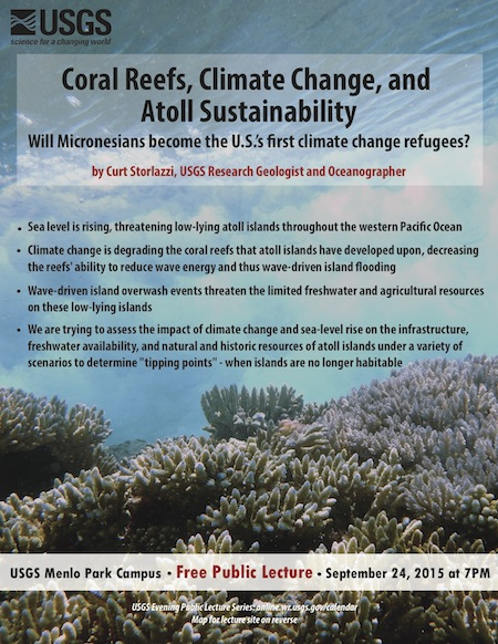 Corals reefs and climate change is topic of Sept. 24 USGS public lecture
