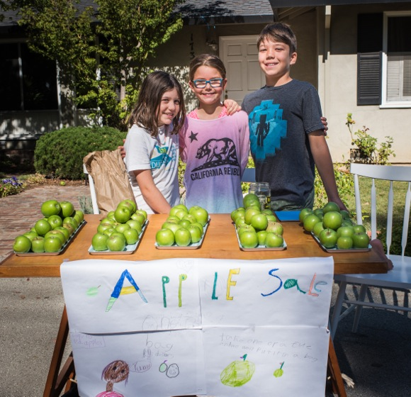 Labor Day apple sale in west Menlo Park