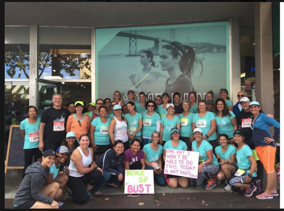 Post image for Fleet Feet Menlo Park front and center at Nike Women's Half Marathon