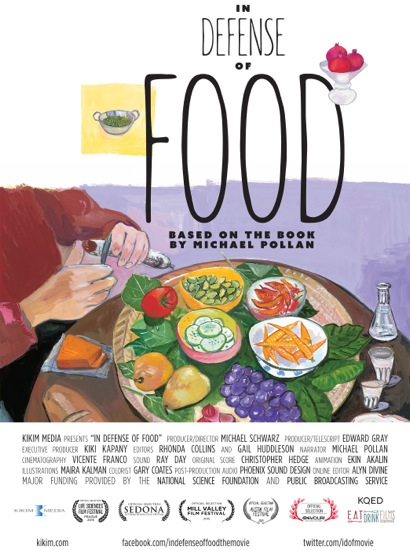 "Post image for Kikim Media film ""In Defense of Food"" being screened at Stanford on Oct. 20"