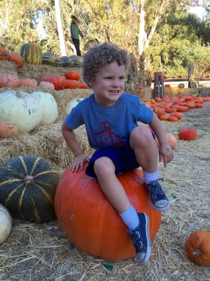 James on big pumpkin