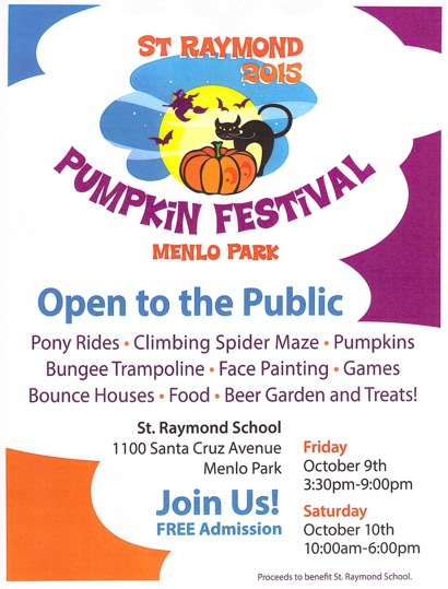 St. Raymond Pumpkin Festival runs Oct. 9th and 10th in Menlo Park