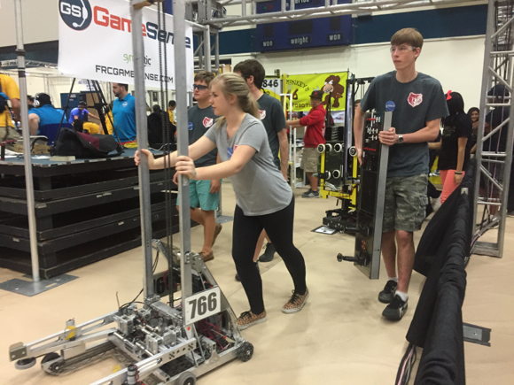 Post image for M-A Robotics Team 766 builds on past success as it begins this year's competition