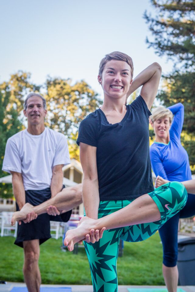 Yoga at Ravenswood fundraiser