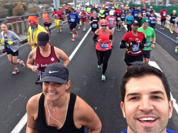 Christy and Kendrick competing in NY Marathon