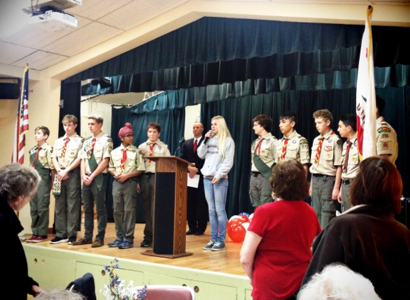 Post image for Spotted:Local Boy Scouts participating in Veterans Day program at Little House in Menlo Park
