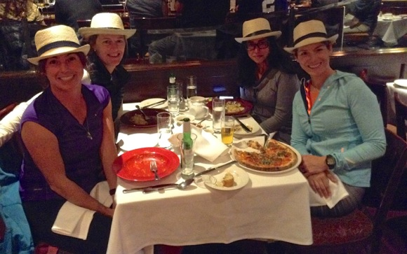 Post image for Spotted: Fleet Feet Menlo Park running coaches in Cuban hats at Carpaccio