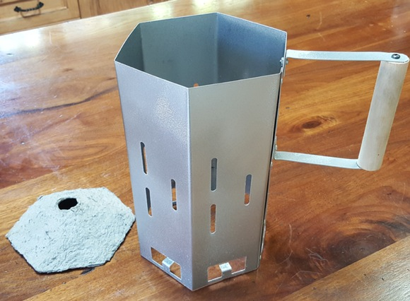 From the creative mind of Bill Mince springs a smarter charcoal chimney
