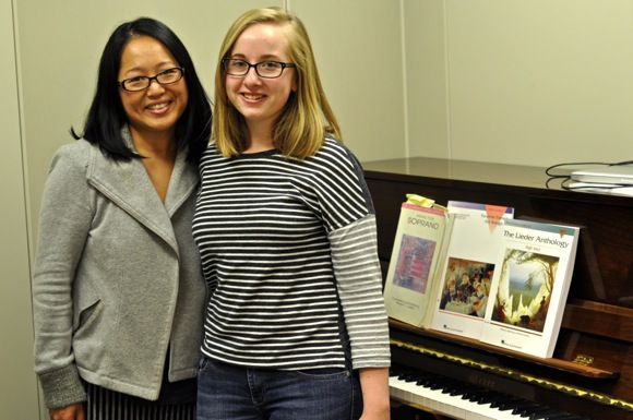 Post image for Voice teacher Katie Tupper and student Gwen Howard make good music together