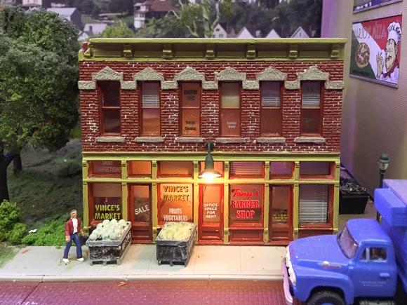 Vince's market at model railroad
