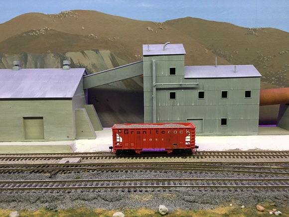 granite at model railroad