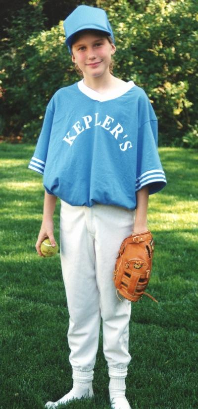 Lauren in Kepler's softball uniform