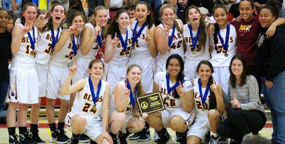 Menlo-Atherton High School girls basketball team wins PAL in 2016