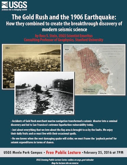 Post image for USGS public lecture examines the Gold Rush and 1906 Earthquake on Feb. 25