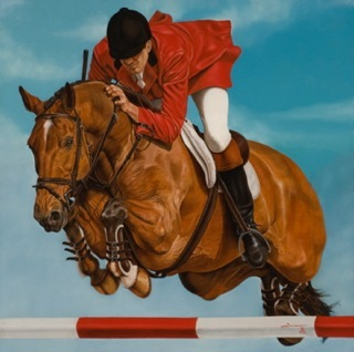 Rick Timmons is official artist of 2016 Menlo Charity Horse Show