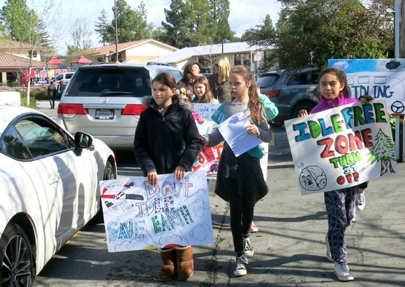 Post image for Girl Scouts in action for positive changes in the environment at Oak Knoll School