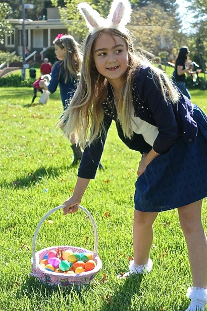 Happy egg hunting at Holbrook-Palmer Park in Atherton
