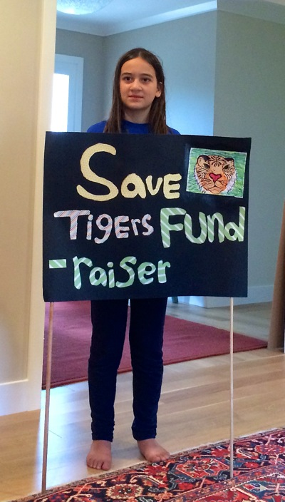Post image for Oak Knoll fifth grader working to save the tigers