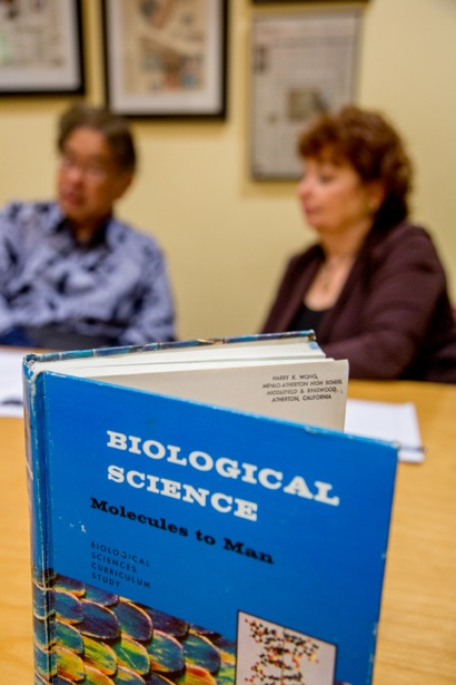 Biiology book with Harry