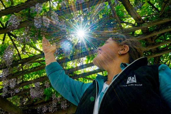 Allied Arts Guild head gardener Kathleen Bryan Aquiar is all set for spring garden tour