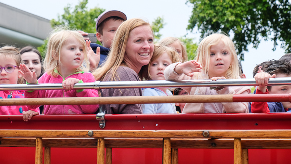 Everyone loves a parade – especially when it features a slew of old fire trucks