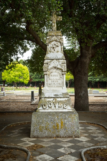 Kathy Wade takes us on a tour of Holy Cross Cemetery in Menlo Park