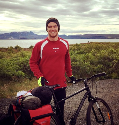 Eric Wright is biking and building his way cross country this summer