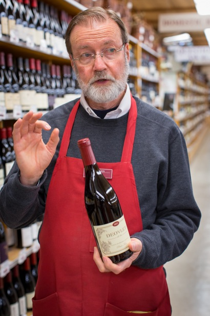 Wine seller Gary Mulleneaux advises Beltramo's customers for three decades