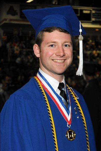 Patrick Reed at graduation
