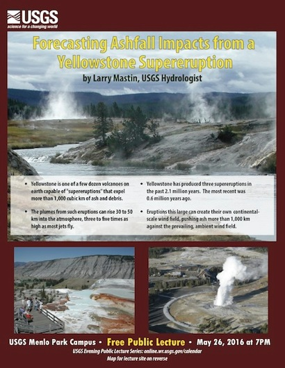 Post image for USGS evening lecture examines effects of Yellowstone supereruption on May 26