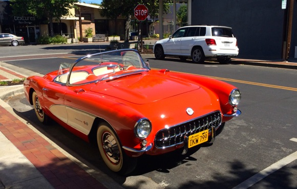 Post image for Spotted: Dad's Day dream car in downtown Menlo Park