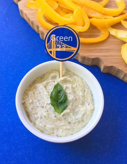 Golden State veggies and dip perfect for the Warriors