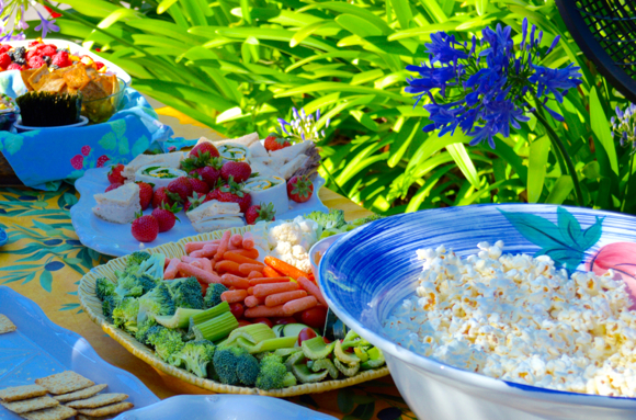 food at Suburban Park cocktail party