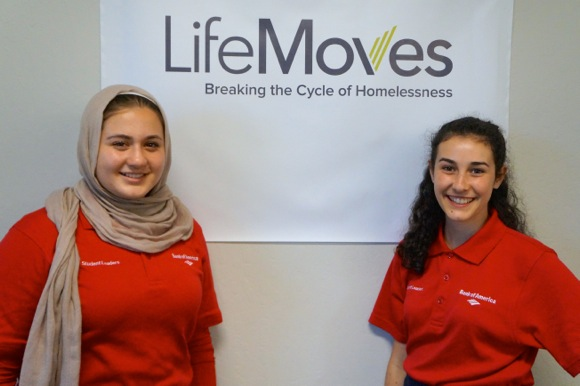 Bank of America Student Leaders are summer interns at LifeMoves in Menlo Park