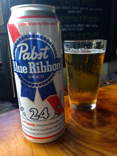 Post image for Spotted: Can of Pabst Blue Ribbon at Dutch Goose