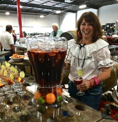 Post image for Spotted: Vat of delicious sangria at Woodside Vineyards