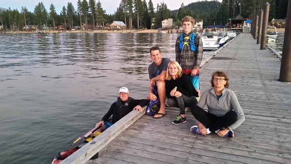 Menlo Park orthodontist Scott Kaloust swims 21 miles across Lake Tahoe