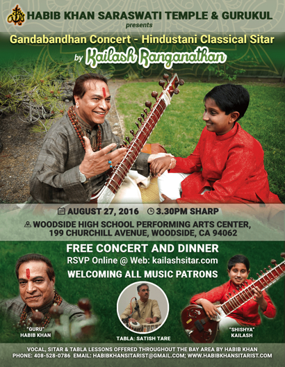 Post image for Sitar concert featuring 12-year-old takes place at Woodside High School on Aug.27