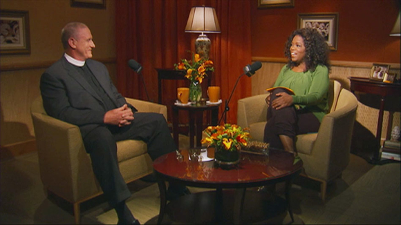 The Rev. Ed Bacon and Oprah Winfrey