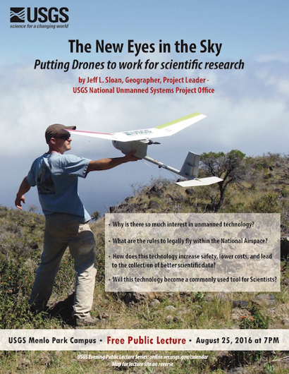 Post image for Putting drones to work for scientific research is topic of August USGS public lecture