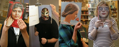 Menlo Park Library holds book face competition