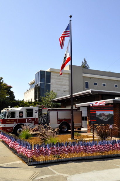 american-flags-fire-station