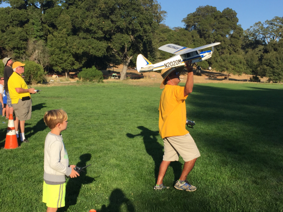 Spotted: Model airplanes at Portola Valley Flight Night