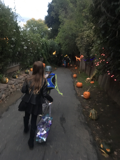 Spotted: Kids wandering along Ladera's spooky path