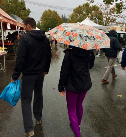 A wet October continues in Menlo Park