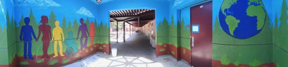 "New mural at Menlo-Atherton High School celebrates ""strength in diversity"""